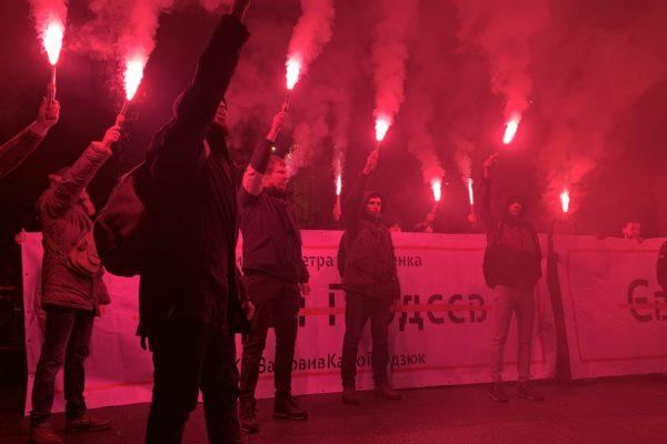 Три місяці з дня смерті Гандзюк: активісти провели акцію під Адміністрацією президента та офісом «Батьківщини»